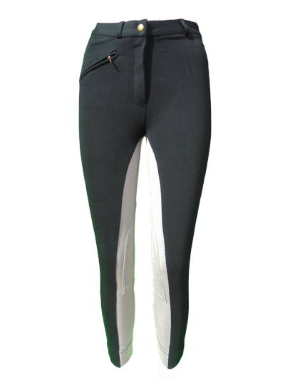Canter Ladies Riding Jodhpurs Black/Grey